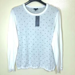 "Tommy Hilfiger ""Snow White"" Polka Dot Sweater"